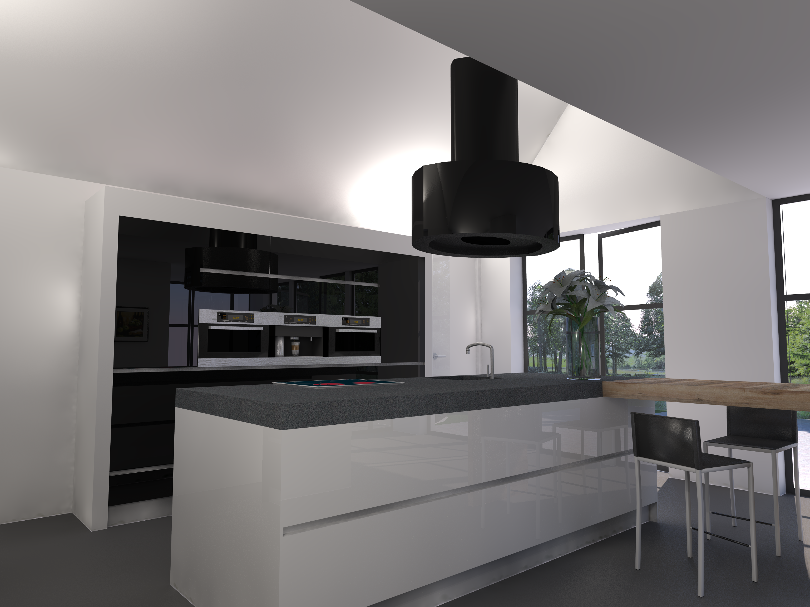 Ontwerp keuken voor een nog te bouwen huis in breda - Keuken kookeiland ontwerp ...